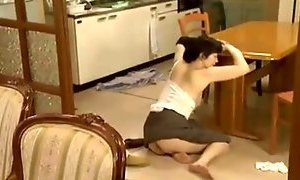 Japanese Mother Gets Naughty At Home !