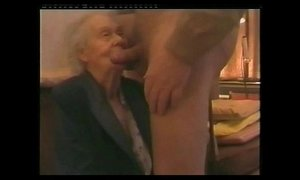 I paid my very old neighbor to suck my cock. Amateur older