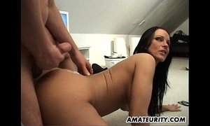 Naughty amateur Milf sucks and fucks at home