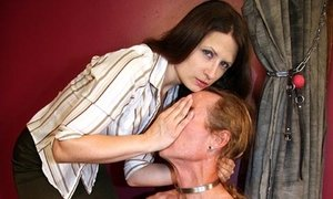 Smothering business chick