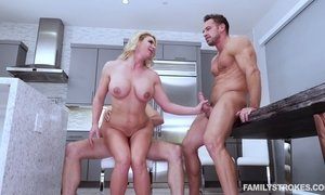 Whorish milf Phoenix Marie seduces husband's friend and arrange dirty 3some sex