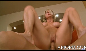 Aged playgirl sucks and swallows