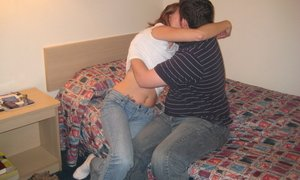 slut wife gets banged by two different guy in cheap motel
