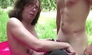 73yr aged grandmother entice to boink her booty and facial cumshot by youthful freesex