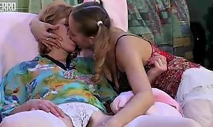 Mature and young lesbians